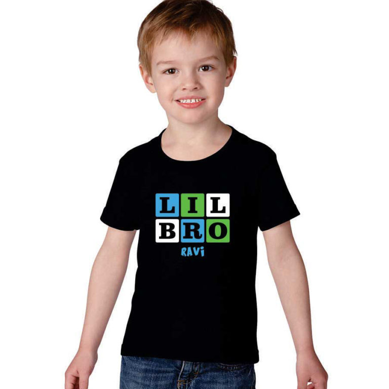 Personalized-Cute-Little-Bro-Kids-T-shirt-_Black